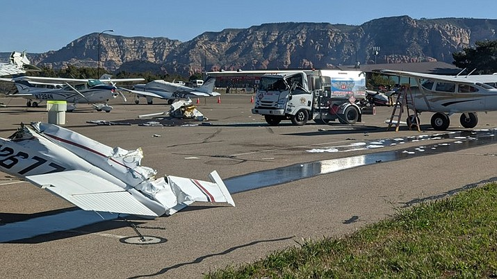A crash in Sedona marks the third airplane crash in northern Arizona in less than a week. (Photo/Sedona Fire)