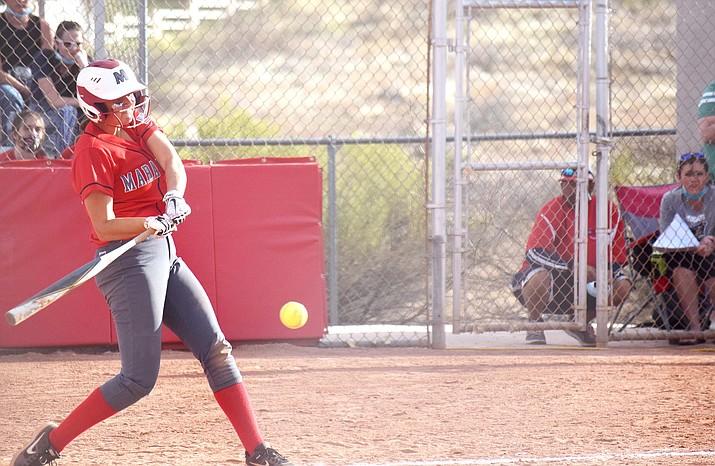 Mingus Union sophomore Sydnee Stapleton takes a swing in a recent game. VVN/Jason W. Brooks