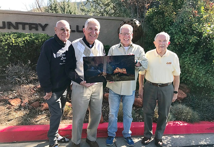 From the left, Canyon Mesa Townhouse Association Board Members Arland Averill (President), Lew Turano, Bob Dickson, and Dean Campbell.