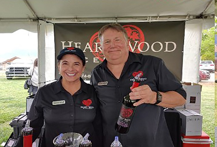 Valerie and Daniel Wood of HeartWood Cellars were among the many wine proprietors  who were at the Camp Verde Pecan and Wine Festival the weekend of April 16. Courtesy photo