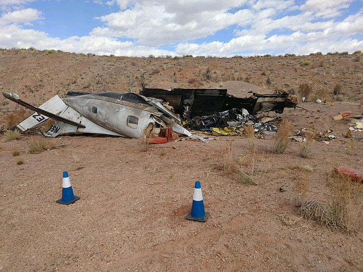 Navajo County Sheriff's Office responds to plane crash near Winslow. (Photo/Navajo County Sheriff's Office)