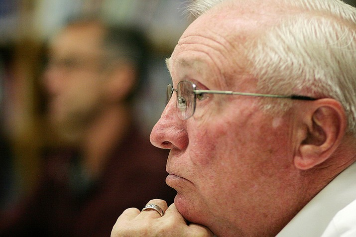 """Camp Verde School Board Member Bob Simbric said Wednesday that each day he hears """"both sides"""" of the mask debate. """"Wear a mask, or don't wear a mask,"""" he said. """"That's what's going on in society right now."""" VVN file photo/Bill Helm"""