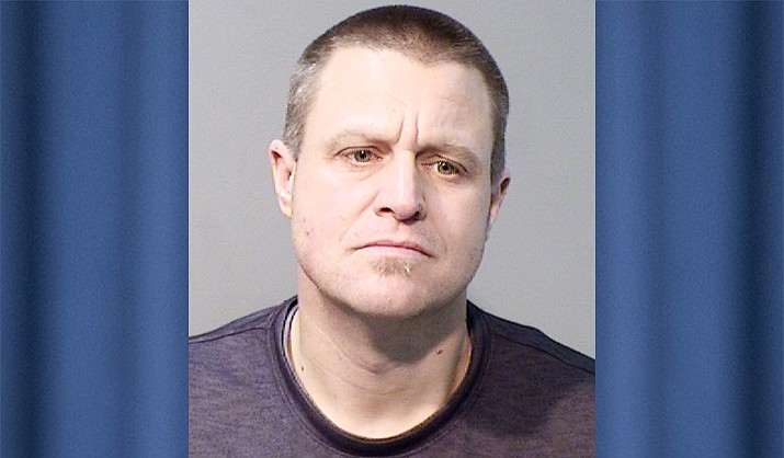 Brandon Evans, 40, of Paulden, was arrested by Prescott Valley Police on Tuesday, April 27, 2021, after he allegedly stole $150 worth of lottery tickets from a Highway 69 gas station back on March 14. (PVPD/Courtesy)