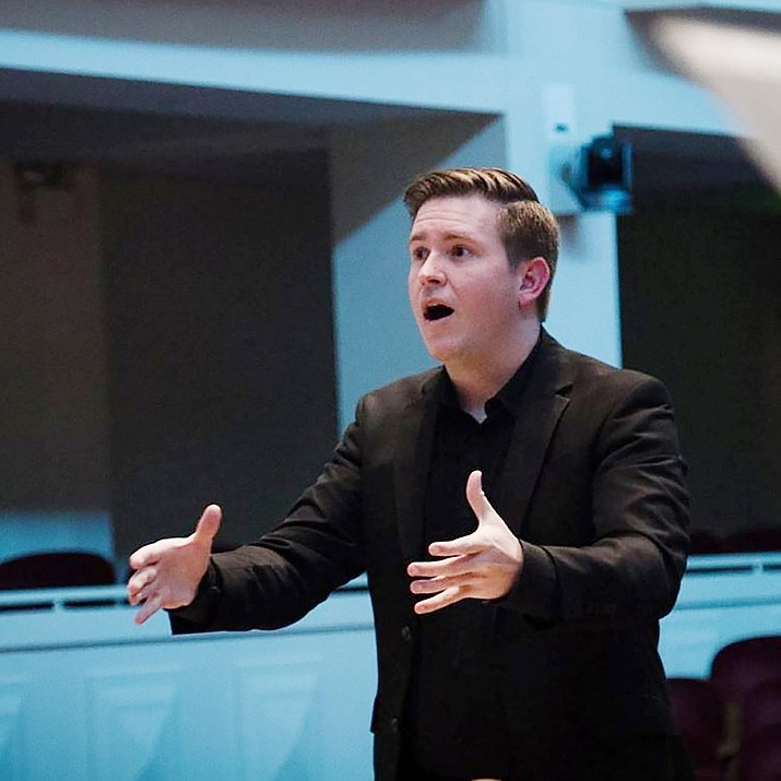 Joshua Harper, Yavapai College associate professor of Choral Music, will conduct the orchestra and singers on Sunday, May 2, 2021. (Courier file)