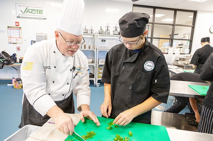 Yavapai College's five-course culinary program will guide students from the fundamentals of pastry preparation through chocolates, sugar casting, sugar pulling, marzipan and Isomalt, as well as complex cake decoration. Photo courtesy Yavapai College
