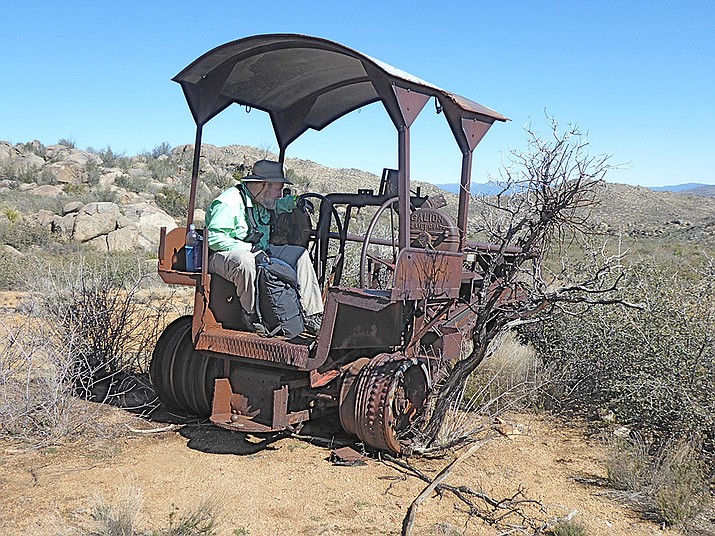 The old grader provides a seat for a picnic lunch. (Nigel Reynolds/Courtesy)