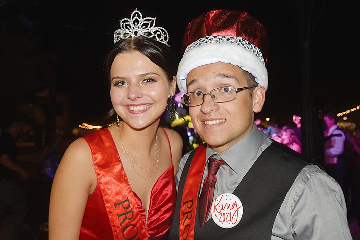 Prom Queen Victoria Martin and Andrew Walker were crowned at the Bradshaw Mountain High School prom on Saturday night, May 1, 2021. (Jesse Bertel/Courier)