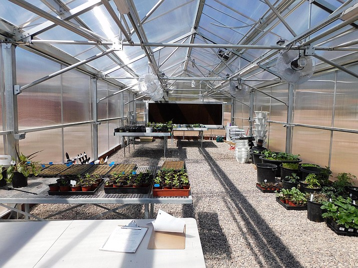 Yavapai College has unveiled a new, state-of-the-art greenhouse to serve the horticulture and viticulture programs on the Clarkdale campus. Courtesy photo