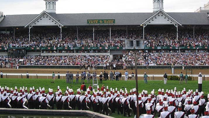 Medina Spirit won the Kentucky Derby horse race at Churchill Downs in Louisville, Kentucky on Saturday, May 1. (Photo by rnhurt, cc-by-sa-2.0, https://bit.ly/31Lk5Bu)