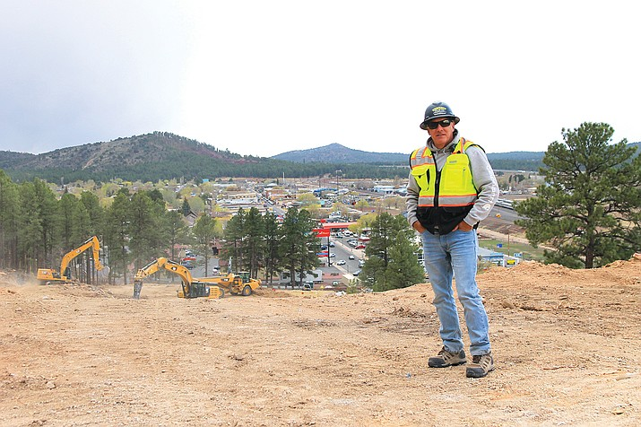 Co-owner Scott Towsley is overseeing the construction of a new coaster park and tubing hill on the east side of Williams. (Wendy Howell/WGCN)
