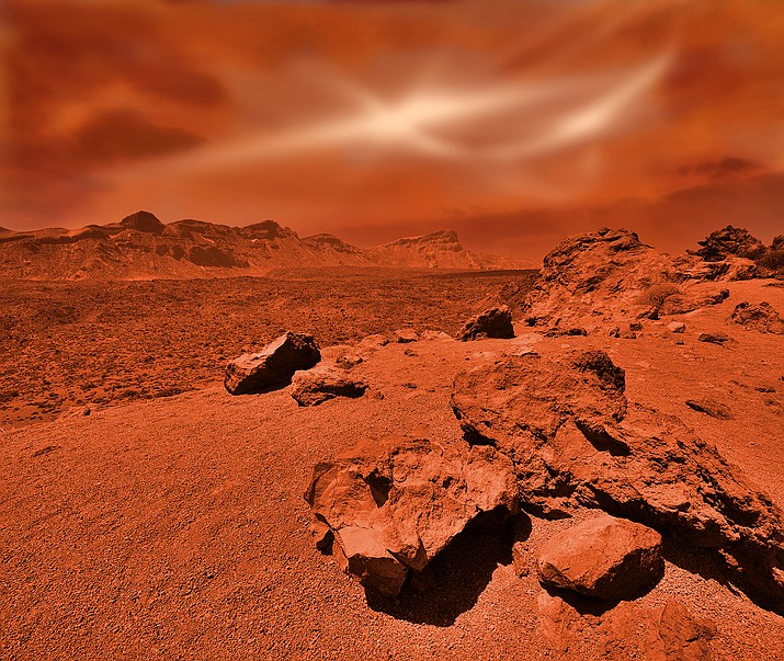 Some of the most interesting Martian features are its volcanoes. (Photo/Adobe stock)
