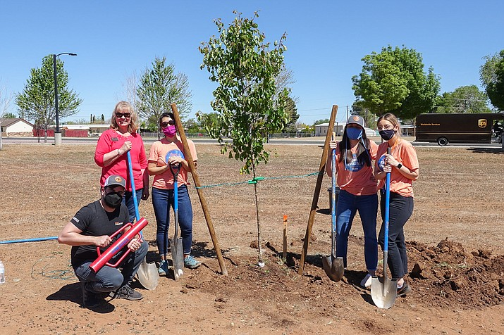 Volunteers helped celebrate Arbor Day in Prescott Valley on Friday, April 30, 2021. (Town of Prescott Valley/Courtesy)