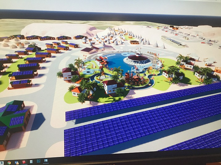 A make-up of the proposed resort. The Coconino Board of Supervisors will decide on a rezoning permit May 12. (Submitted photo)