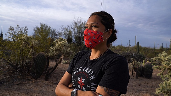 Marlinda Bedonie has found a passion for running and representing her Indigenous culture on social media, highlighting her half-marathons, 10ks and other races. (Photo by Ike Everard/Cronkite News)