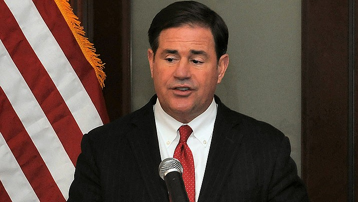 Arizona Gov. Doug Ducey has rescinded a requirement that allowed Arizonans to collect unemployment compensation without actively seeking work. (Photo by Howard Fischer/For the Miner)