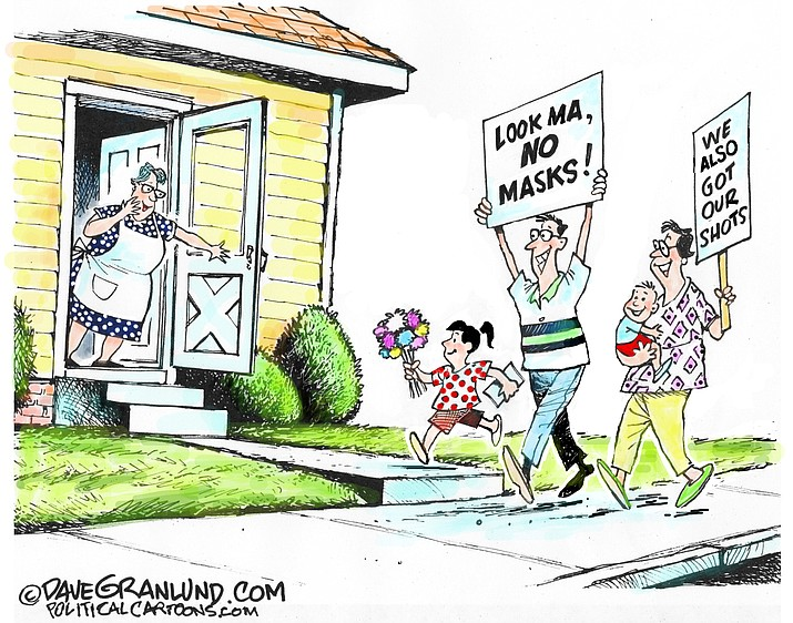 Editorial cartoon (2): May 5, 2021