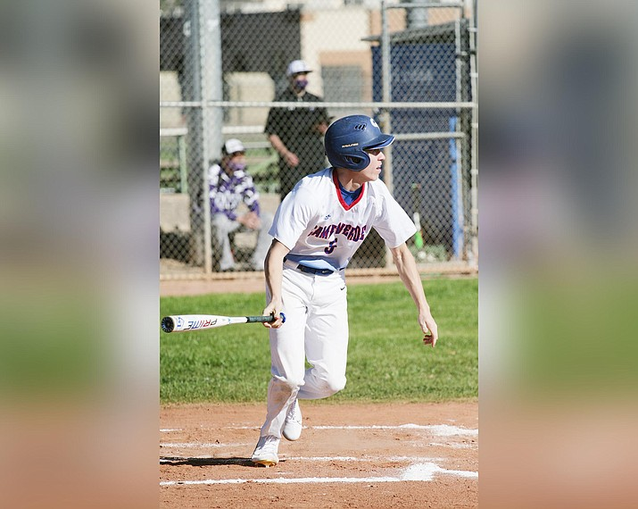 Mason Rayburn was named 3A North Central Region's offensive player of the year for 2021. A senior, Rayburn batted .482 this season for Camp Verde. VVN/Bill Helm