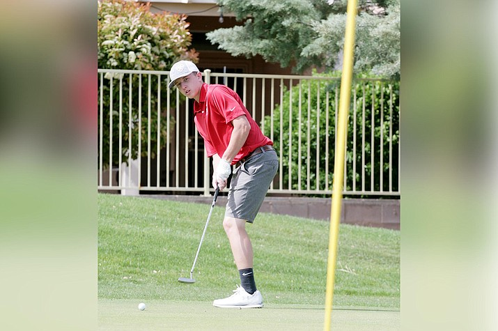 Camp Verde senior Blake Pierce shot a 99 across 18 holes in the May 4 Regional Invitational Event, Elephant Rocks Golf Course. VVN/Bill Helm