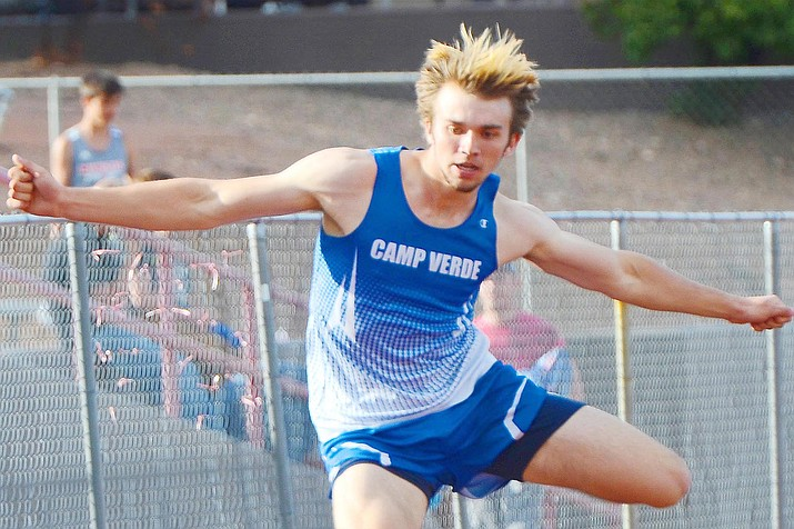 Camp Verde's Logan Kurowski will compete at the this weekend's state championships in the 100-meter and 300-meter hurdles, and the 4x400-meter relay events. VVN/Vyto Starinskas