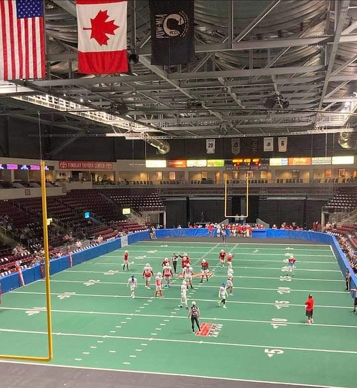 The Northern Arizona Wranglers prepare for their inaugural Indoor Football League (IFL) season in 2021 with a scrimmage on Sunday, May 9, at Findlay Toyota Center in Prescott Valley. (Facebook/Courtesy)