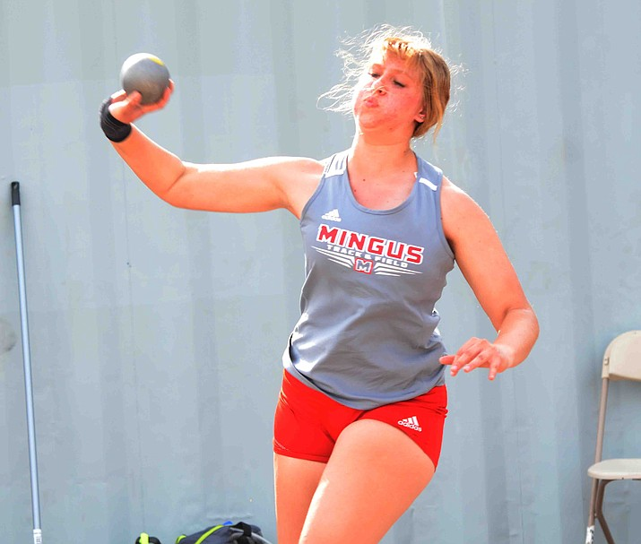 Mingus senior Shelby Link has had a dream season for the Marauders this year, achieving personal best throws in six of the seven meets she has participated. Her best throw of 32-feet, 0.5-inches in the shot put, is second best in school history, according to athletic.net. VVN/Vyto Starinskas