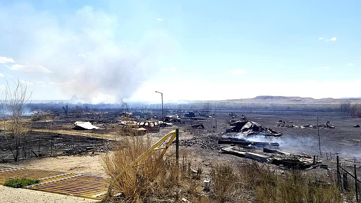 The Salt Creek Fire near Shiprock, New Mexico was 50 percent contained as of 6:30 p.m. May 2. (BIA Wildland Fire Management Navajo Region)
