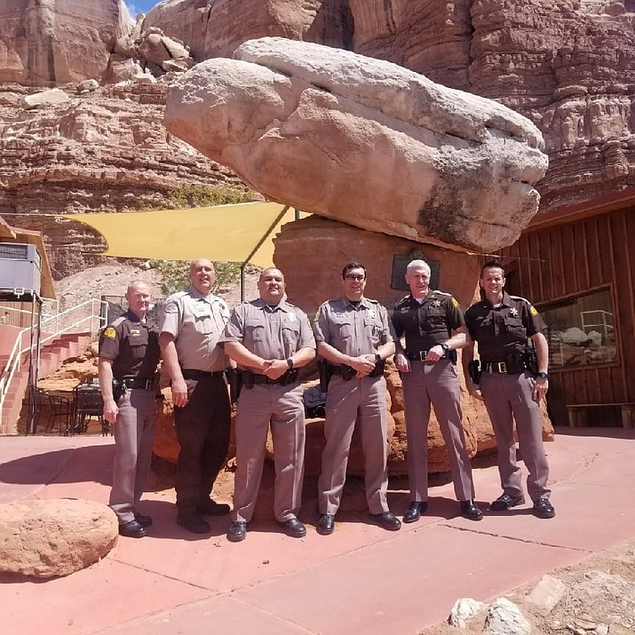 Navajo Police Chief Phillip Francisco held discussions with law enforcement agencies from Utah April 16. (Photo/Navajo Police Department)