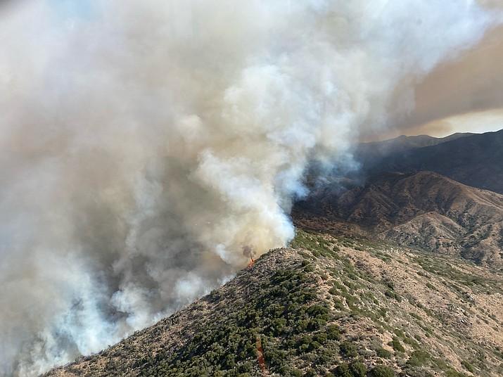 The Tussock fire is burning southwest of Crown King, Arizona. (Bureau of Land Management/Courtesy)