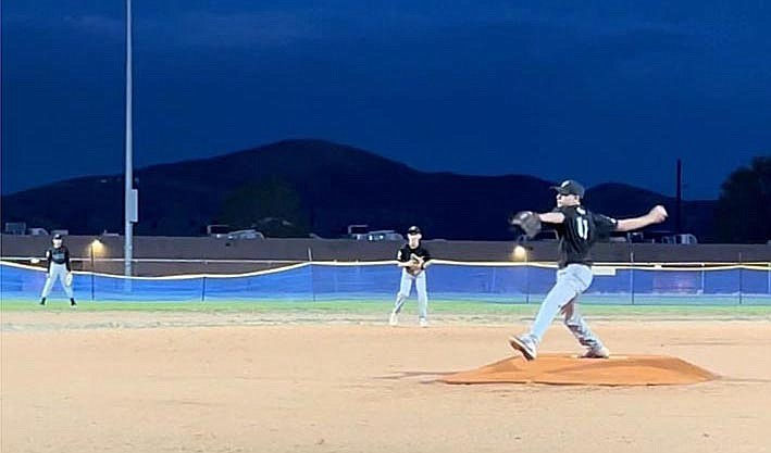Kaden Pusl of Clarkdale recently pitched a perfect game against the Agua Fria team. Courtesy photo