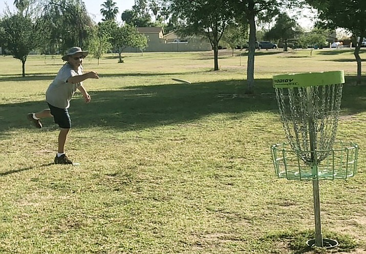 Joe Langmeier is among those who play in the increasingly popular sport of disc golf. Fifty million rounds of disc golf were played in 2020, according to the Disc Golf Growth Report. (Photo courtesy of David Payne)