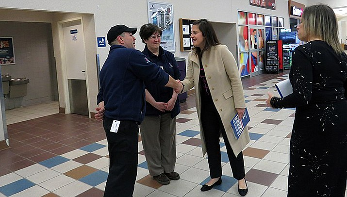 Congresswoman Elise Stefanik (R-New York) visits the exchange at Fort Drum in her upstate New York District. Stefanik on Friday, May 14 was elected to the No. 3 leadership position in the house. (Office of Rep. Elise Stefanik/Public domain)