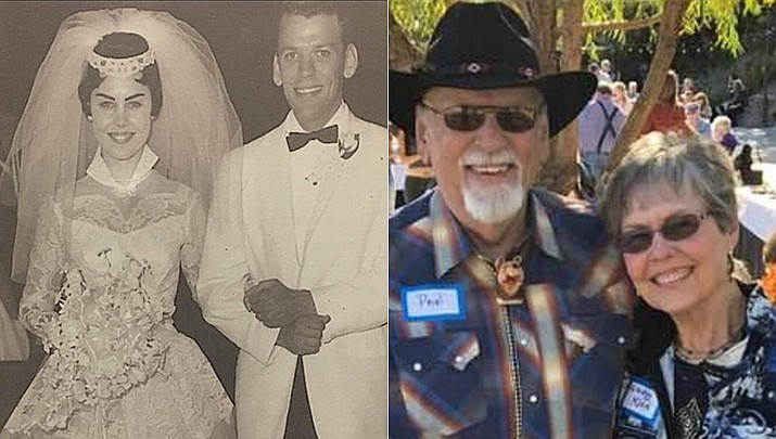 Paul and Shirley Klein were married on May 27, 1961, at St. Luke's Catholic Church in Temple City, California. Both retired from Banking and are enjoying their three children and three grandsons. They have lived in Prescott since 1990. (Courtesy)