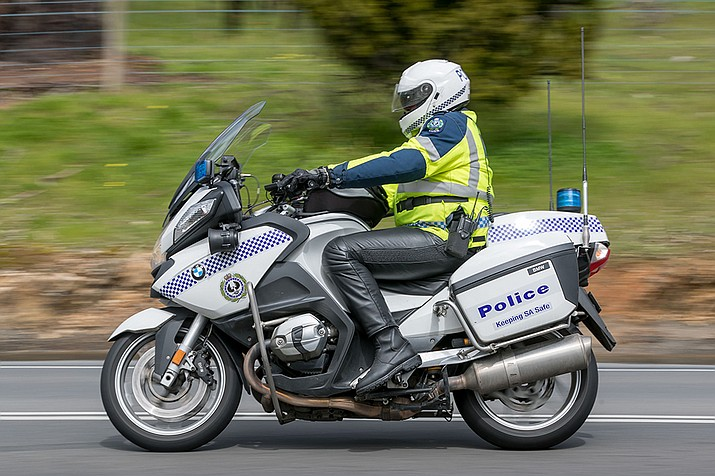 The Prescott Valley Police Department (PVPD) announced in a news release that it will soon have two new BMW police motorcycles to assist the town with improving traffic safety and addressing traffic concerns. (Prescott Valley Police Department/Courtesy)