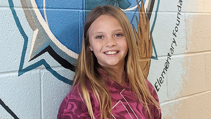 Zoey Wendlandt from Coyote Springs Elementary School is this week's Humboldt Unified School District Student of the Week. (HUSD)