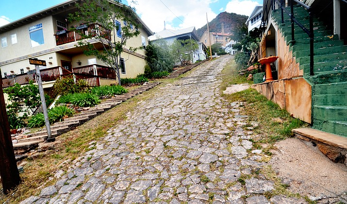 Second Street in Jerome has cobblestones that add to the town's historic character. VVN/Vyto Starinskas