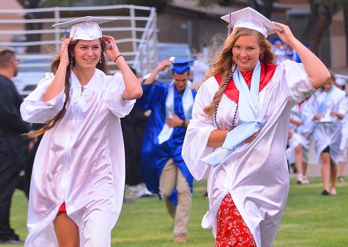 About 80 Camp Verde High School seniors graduated Thursday night. VVN/Vyto Starinskas