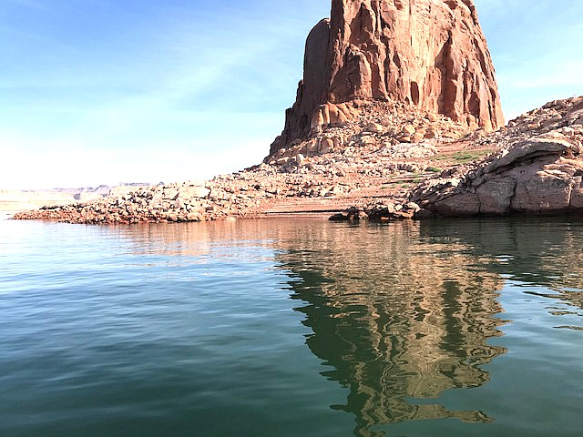 Lake Powell water levels continue to decline, however, fish continue to be caught. (Submitted photo)