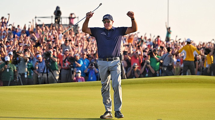 Phil Mickelson didn't just win the PGA Championship, he did it as the oldest player to win a major, leaving some to wonder if older athletes will be finding more athletic success in the future. (Photo courtesy PGA.com)
