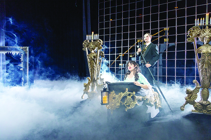 In this 2019 file photo, performers with the Yavapai College Performing Arts Department put on the Phantom of the Opera. Beginning this fall, the Technical Theatre Certificate Program – a two-year, 16-credit program – is designed to give aspiring designers, carpenters and stage crew members the fullest possible exposure to every creative aspect of a stage production. Students will gain hands-on experience working as technicians and running crew on Yavapai College Performing Arts Center (YCPAC) productions. (Bill Leyden/Courtesy)