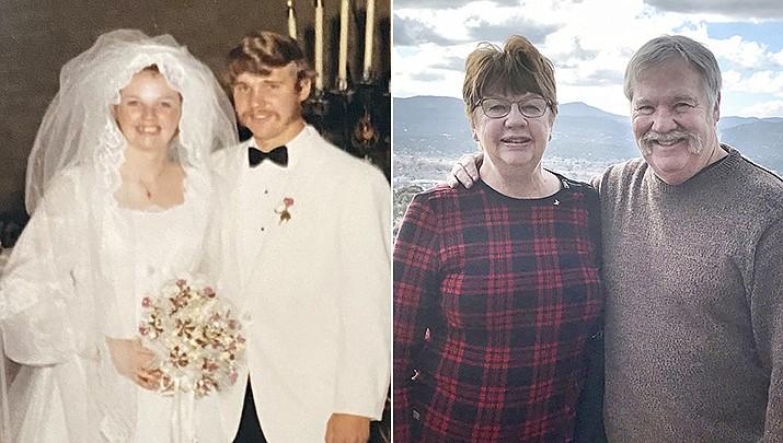 Pattie and Gordon Glau, lifelong Prescott residents, were married in Sacred Heart Church on June 5, 1971. (Courtesy)