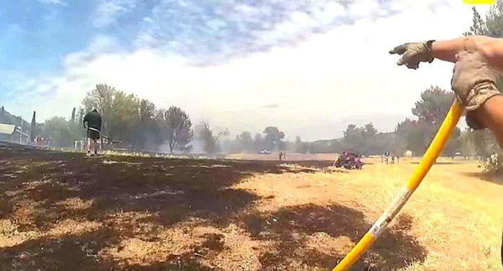 Officials say an 11-year-old boy is facing multiple felony charges after a fire he started caused more than $30,000 worth of damage at the old Beaver Creek Golf Course in Lake Montezuma northeast of Camp Verde. (Yavapai County Sheriff's Office)