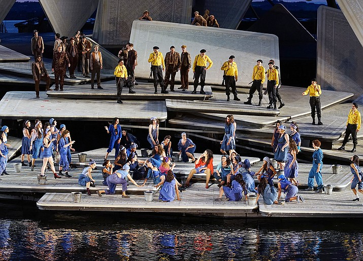 """The Sedona International Film Festival will present the Northern Arizona premiere of """"Carmen on the Lake"""" from the magnificent Bregenz Lake Stage in Austria. There will be one show on Saturday, June 5 at 1 p.m. at the Mary D. Fisher Theatre. Performed on the spectacular water stage of Lake Constance in Bregenz, George Bizet's """"Carmen"""" is a story of passion, destiny, and obsession."""