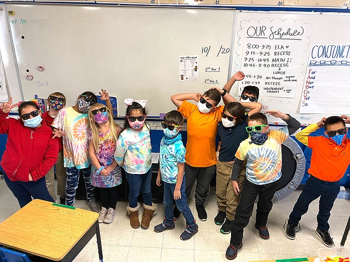 Students at Heritage Elementary in Williams celebrate the last day of school May 26. Heritage is a charter school serving students from kindergarten through eighth grade. (Photo/Heritage Elementary)