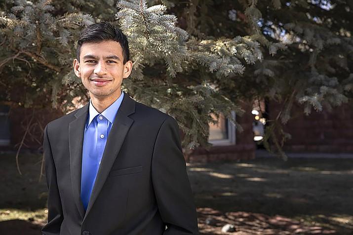 Aarish Raza, originally from Pakistan, grew up in Chinle before attending NAU.  (Photo/NAU)