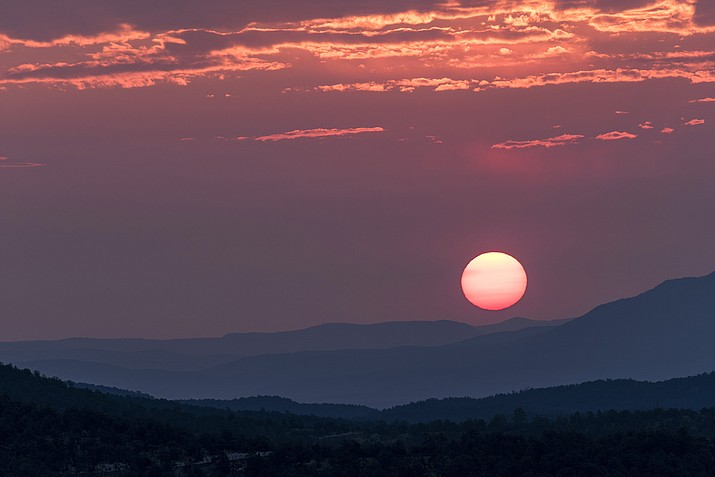 A colorful southwestern sunrise over Gila National Forest in New Mexico. (Photo/Adobe stock)