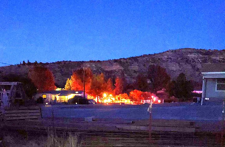 A single-family residence was fully-involved when firefighters arrived on Stagecoach Road in Camp Verde late Friday afternoon. Photo Courtesy Mitzie Christian