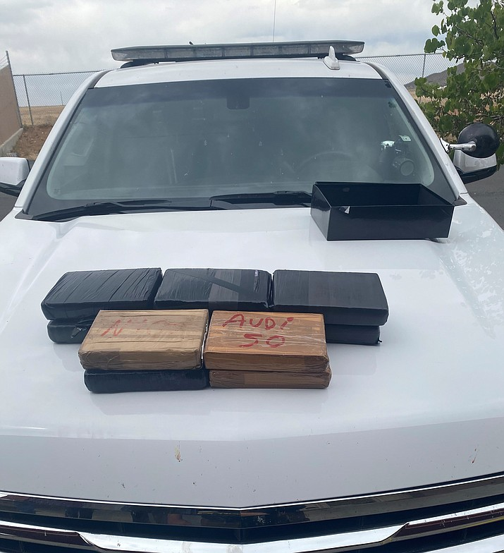 Packages of powdered fentanyl seized by the Yavapai County Sheriff's Office in a traffic stop on Interstate 17 near Cordes Junction on June 2, 2021. The haul is estimated to be worth $150 million. (YCSO)