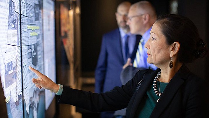 The Biden administration will make $1 billion in grants available to expand high-speed internet on tribal lands. Interior Secretary Deb Haaland is pictured. (Photo by Deb Halland, cc-by-sa-4.0, https://bit.ly/37CwTg1)