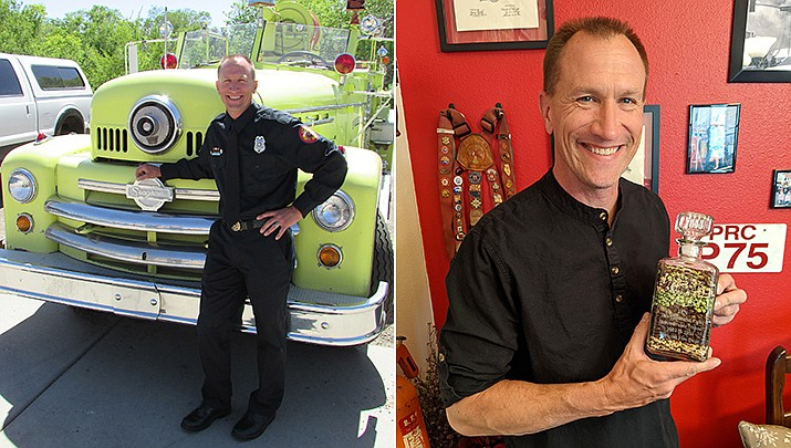 """Family, friends and coworkers are congratulating Conrad Jackson this week for 20 years with Prescott Fire Department. """"Your family is so proud of you and we love you very much,"""" Conrad's wife, Laurie, wrote. """"Guess you need to bring home the ice cream now!"""" Conrad's 20-year anniversary is on June 10, and he is retiring at the end of June. A retirement celebration to be held on June 11. During his career, Conrad ran over 10,000 calls for the community. He has had immeasurable impact and will continue to be a source of joy and inspiration for all those around him. (Courtesy)"""