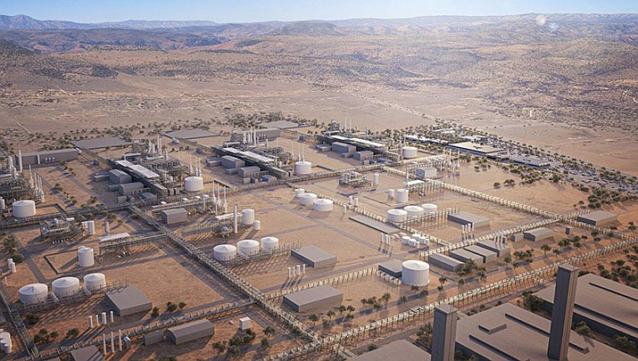The Mohave County Board of Supervisors will consider dedicating a portion of alternative fuel tax credit to accelerate the development of a zero sulfur gasoline manufacturing plant in the Kingman area at its meeting set for 9:30 a.m. Monday, June 7 at the county administration building, 700 W. Beale St. An artists rendering of the proposed plant is shown. (Courtesy illustration)